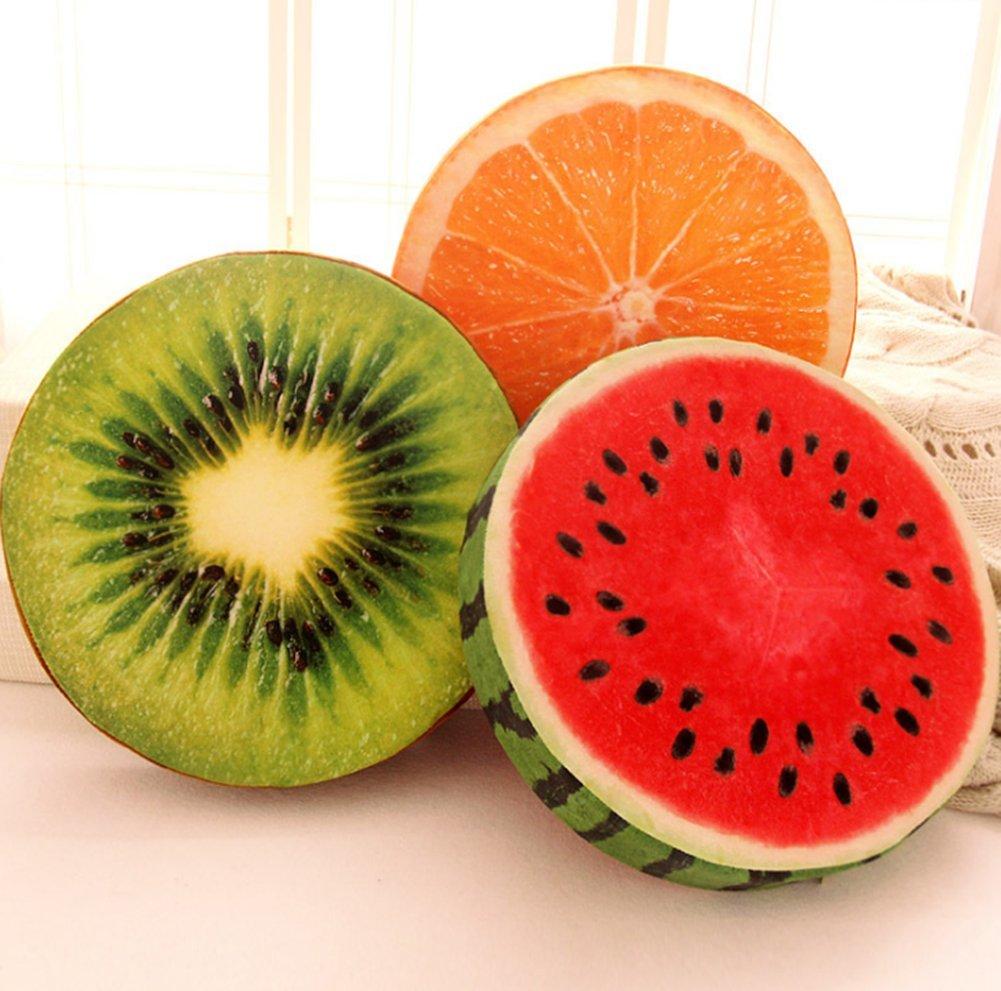 Chytaii Coussin de Chaise Fauteuil Si/ège Canap/é Oreiller Rond Epais Jouet Poup/ée Cadeau D/écoration pour Maison Salle /à Manger Voiture Auto Forme de Fruit