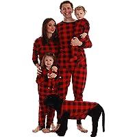 #followme Buffalo Plaid Matching Christmas Pajamas for Family, Couples, Dog Owner