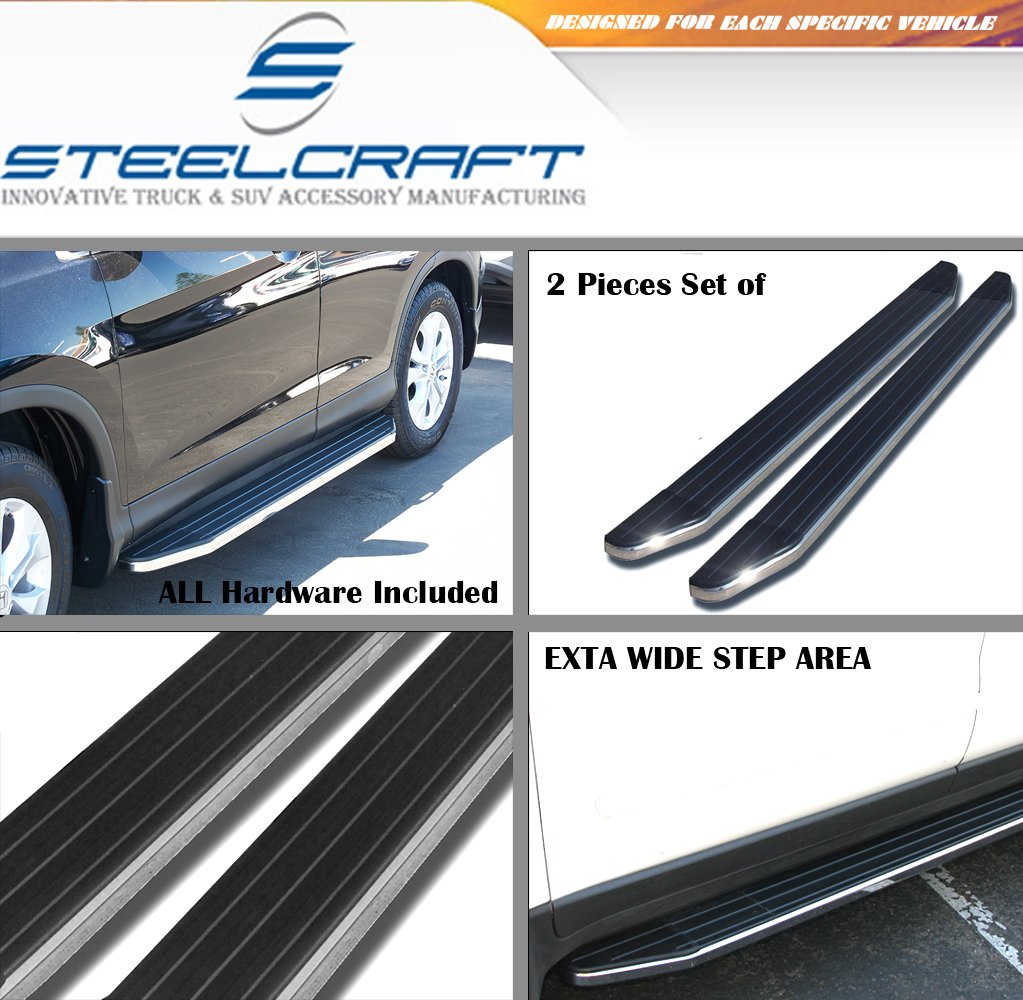 Steelcraft 05-14 NISSAN FRONTIER CREW CAB Side Step Running Boards Nerf Bars BLK