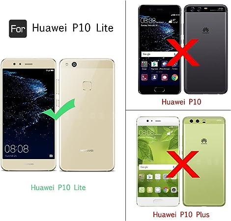 Funda para Huawei P10 Lite, Transparente Carcasa con Cuerda para ...
