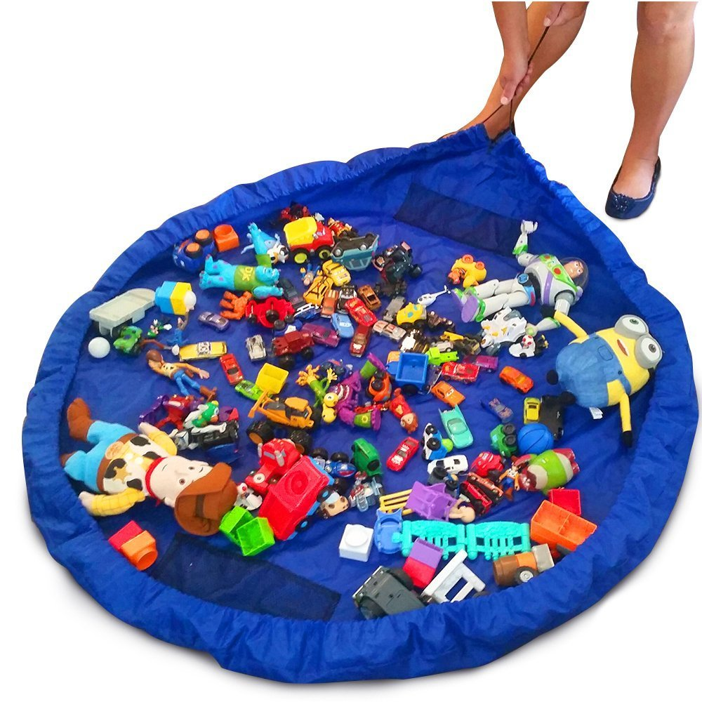 Toy Storage Bag Portable Kids Toy Organizer Storage Bag Play Mat For Lego Rug Box Picnic Camping Mattress Shoulder Bag 60 Inch Faattree House