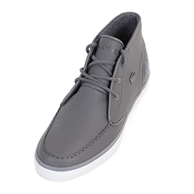 a86ea26fec8e Lacoste Men s Sevrin Mid 417 1 Synthetic Leather Lace up Trainer Dark Grey- Grey-