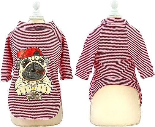 LCRFF Ropa para Perros Camisa Linda de Ropa for Perros for Gatos pequeños Perros Pug Bulldog