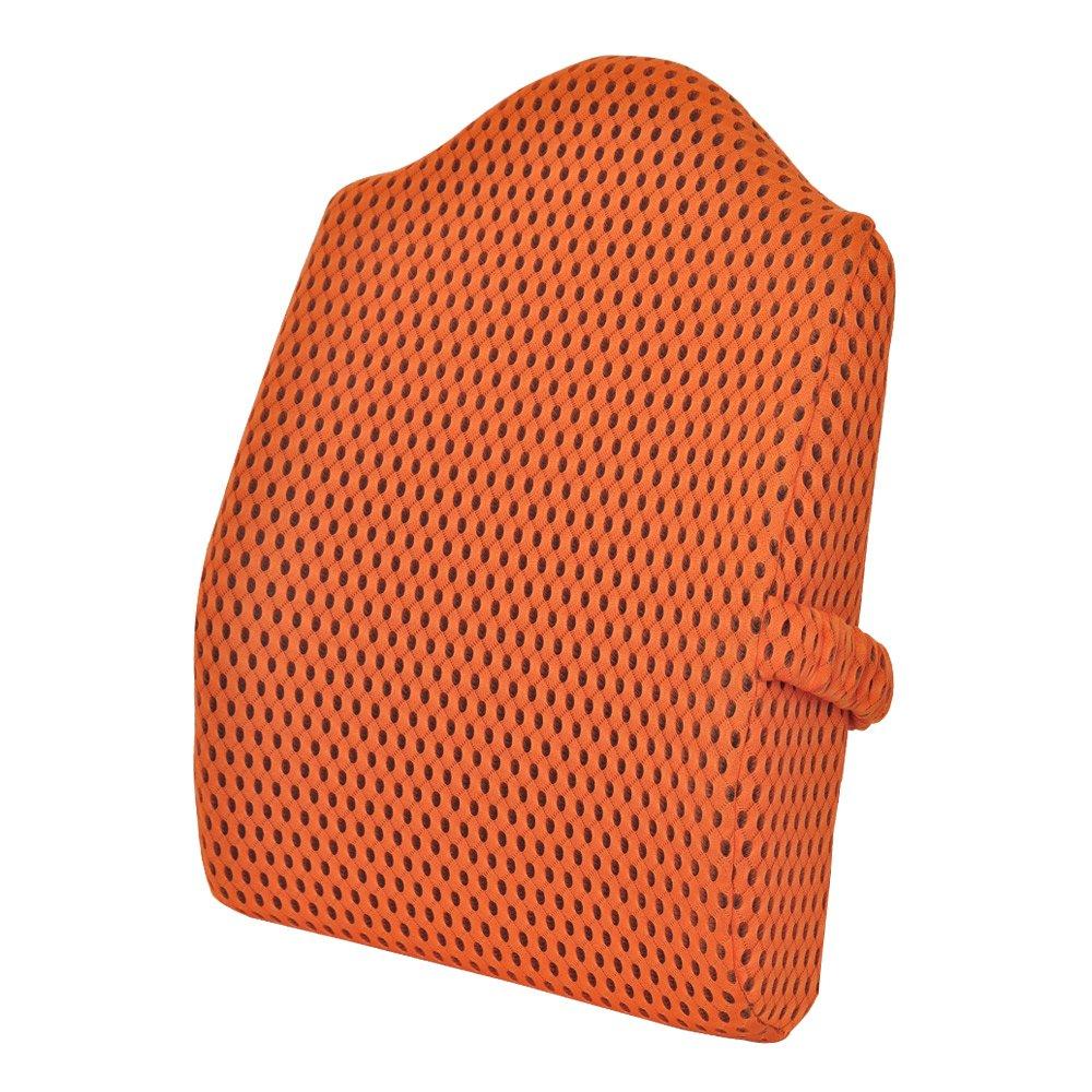 (Orange18 14 4inches) - Sleep Science Lumbar Back Support Memory Foam Alleviate Lumbar Back Pain 4D Youth Series Mesh Ventilative Cushion Tall Orange  Orange18*14*4inches B01MZ9GHHF