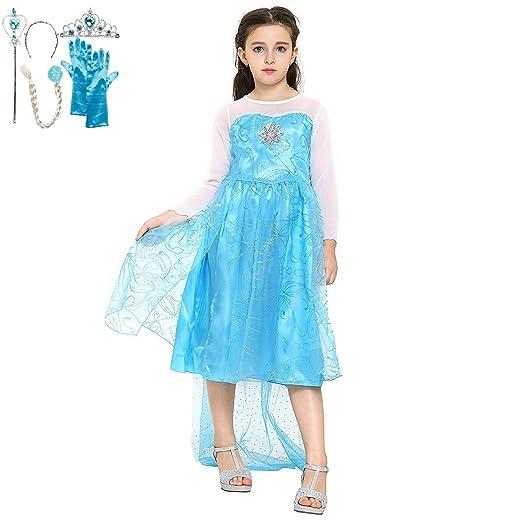 46 opinioni per Katara- Il vestito della principessa Elsa, costume da principessa con set di