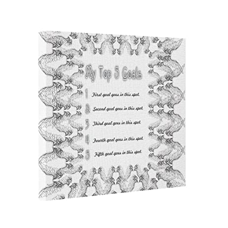 Amazon.com: Canvas Picture Frames Top 5 Goals - White angel wings ...