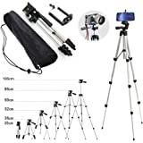 110cm Portable Camera Tripod Stand Holder Adjustable Rotatable Retractable Aluminum Tripods Smartphones Mount for iPhone7 7 6s 6 SE Plus Samsung Galaxy S6 S7 LG G5 V20 Stylus Other Moblie Phone