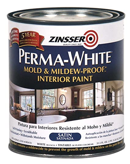 RUSTOLEUM Bathroom Paint White Satin Painting Supplies - Painting over mildew in bathroom