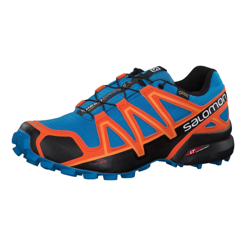 b85df1d71f6c Galleon - Salomon Men s Speedcross 4 GTX Trail Running Shoes Hawaiian  Surf Black Scarlet Ibis 8