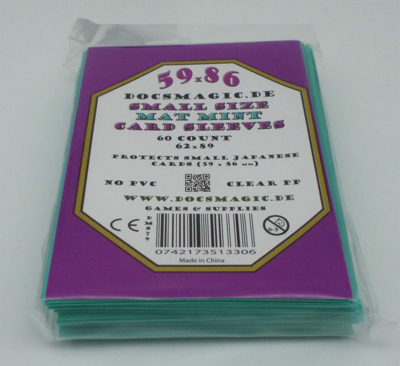 Blue Green Red Yellow Mini Fundas docsmagic.de 4 x 60 Mat Card Sleeves Small Size 62 x 89 YGO CFV
