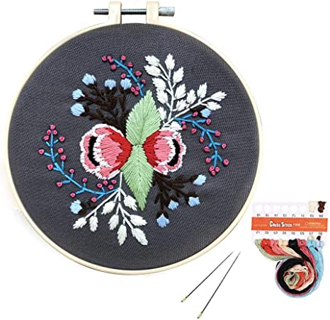 Louise Maelys Cross Stitch Embroidery Kit Full Range DIY Embroidery Kit with Pattern Stamped Embroidery Kits Set for Beginner