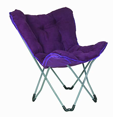 Padded Butterfly Chair (Purple Microfiber)