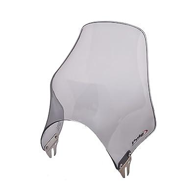 "Puig 0869H Light Smoke Naked Universal Windshield for 8"" Round Headlight: Automotive"