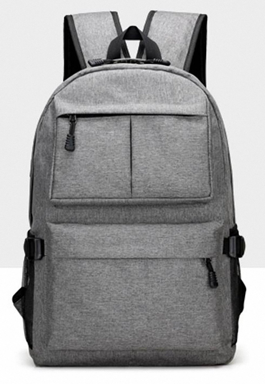 b2184cd7d460 Amazon.com  AHRI USB Unisex Design Backpack Book Bags for School Backpack  Casual Rucksack Daypack Oxford Canvas Laptop Fashion Man Backpacks Gray 17  Inches  ...