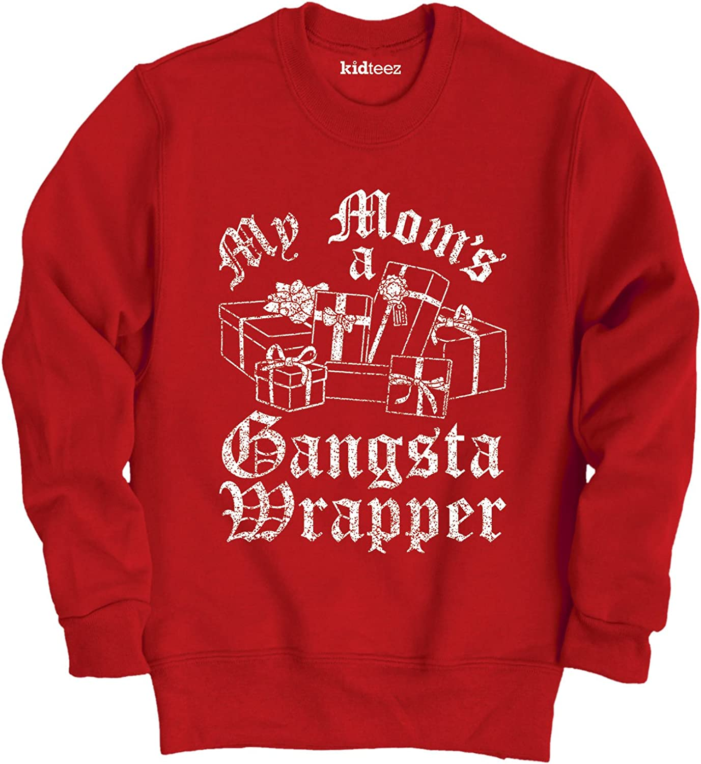 Instant Message Gangsta Wrapper-Toddler Crew FLEECE-4T Red
