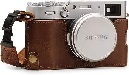 Megagear Mg1895 Ever Ready Kameratasche Aus Echtleder Für Fujifilm X100v Braun Elektronik