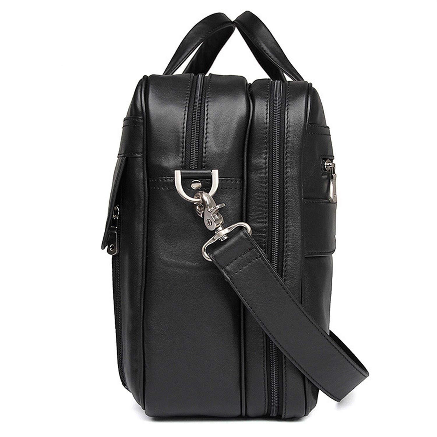 Color : Black, Size : L MUMUWU Mens Shoulder Bag Leather Mens Bag Business Tote Leather Napa Leather Large Briefcase Executive Shoulder Bag Men