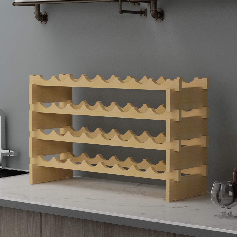 soges Estante de madera, estante para exhibición de soportes ...
