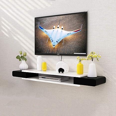 Noir Et Blanc Meuble Tv Plateau Haut étagère Salon Tv Mur Fond étagère Murale Chambre à Coucher Décoration Murale étagère De Rangement