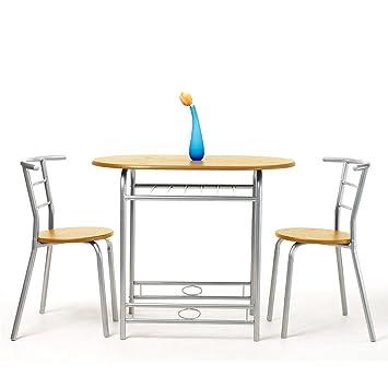 3 in 1 piano in legno tondo in metallo bar caffetteria tavolo ... - Metallo Patio Tavolo E Sedie Rotondo
