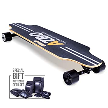 Amazon.com: Monopatín eléctrico Longboard con mando a ...