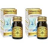 Veravis Plus Regolare Dr. Giorgini – 2 confezioni da 75 pastiglie. Aiuta l'intestino pigro e favorisce la digestione e l'eliminazione dei gas intestinali. Con fermenti lattici