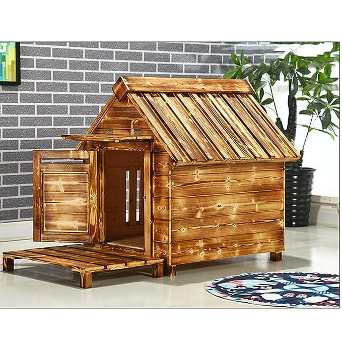 Casa de mascotas, casa de Perro, al Aire Libre, Impermeable, Interior de Madera, pequeña Perrera pequeña, Perrera de Madera, caseta de Perro: Amazon.es: ...