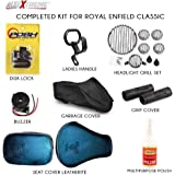 Allextreme 8 in 1 Combo Accessories Kit for Royal Enfield Classic 350 CC, 500 CC and Retro Street Models
