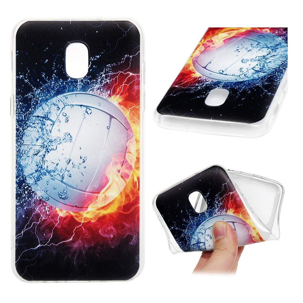 Galaxy J3 2018 Case, J3 Star Case, J3 Achieve Case, Express/Amp Prime 3 Case, J3 V 3rd Gen Case, J3 Orbit Case Protective Printing Cover Bumper Soft Shell Skin for Samsung Galaxy J3 2018 - Volleyball