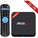 [PURE VERSION] Leelbox M8S max Android TV Box Android 6.0 Amlogic S905X Quad Core 2GB RAM/16GB ROM Dual-band WIFI 2.4GHz/5.0GHz/Bluetooth 4.0/100M LAN