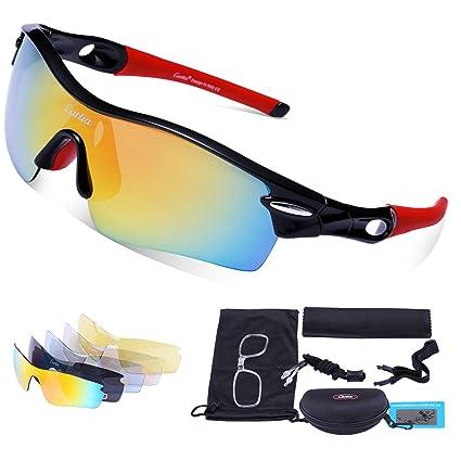 Amazon.com: Anteojos de sol deportivos Carfia, con 5 lentes ...