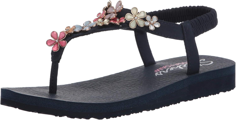 Skechers Meditation, Sandalias de Talón Abierto para Mujer