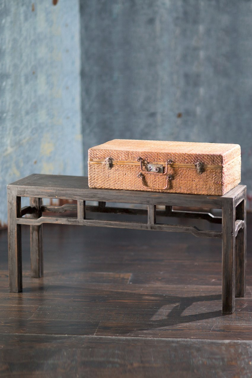 Vagabond Vintage Asian Pine Bench in Dark Finish by Vagabond Vintage