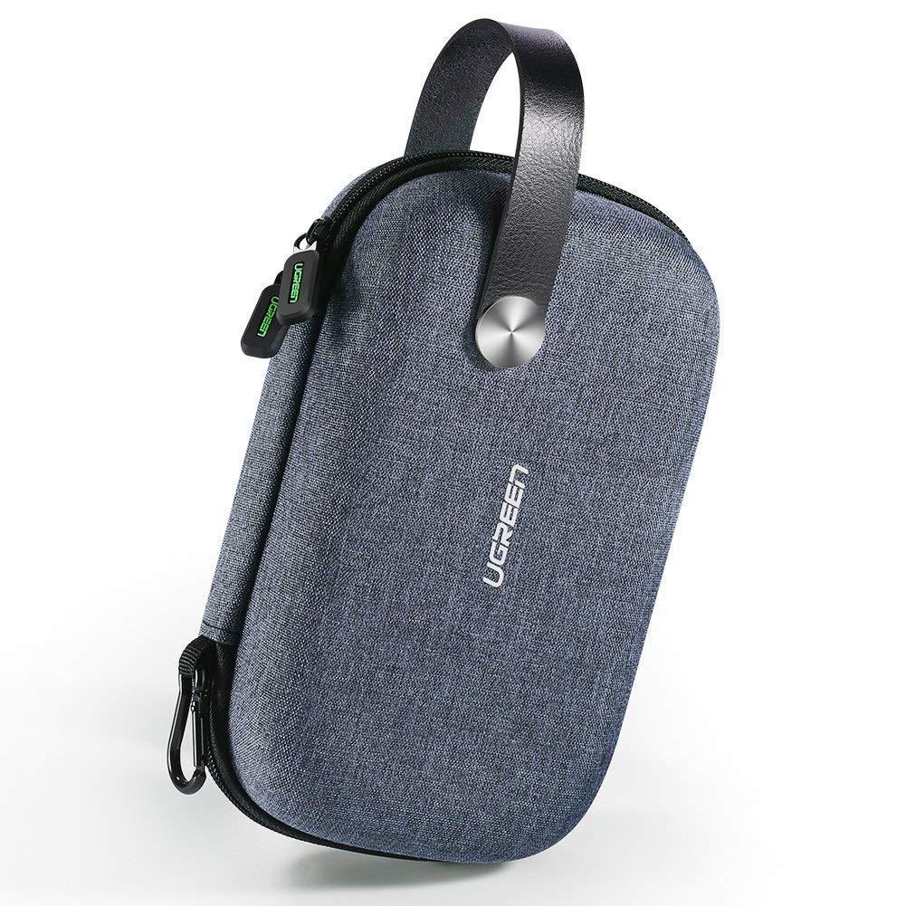 UGREEN /Étui de Rangement Organisateur Sac de Vogaye Pochette Accessoires /Électroniques Antichoc avec Poign/ée Compatible avec Chargeur USB C/âble USB Cl/é USB Carte SD TF Batterie Externe