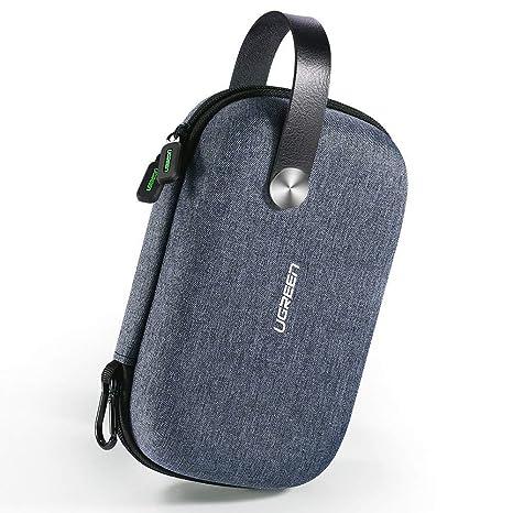 UGREEN Bolsa Organizador Estuche para Bateria Externa Cargador Cables Disco Duro Auriculares Tarjetas USB Accesorios Electrónica, Estuches Pequeños ...