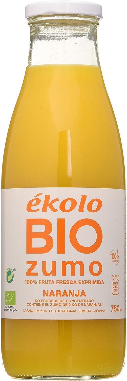 Ekolo Zumo De Naranja Ecológico, 100% Exprimido, 6 Botellas * 750Ml 4500 ml