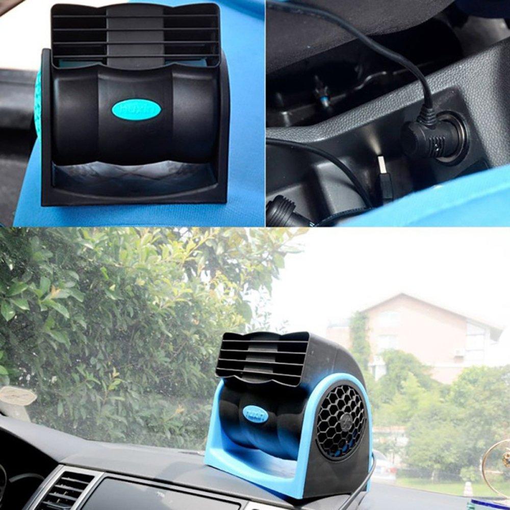 YSCYLY Ventilador Automotriz Que Se Refresca 12V Aire Acondicionado Ajustable Sin Hojas Silencioso
