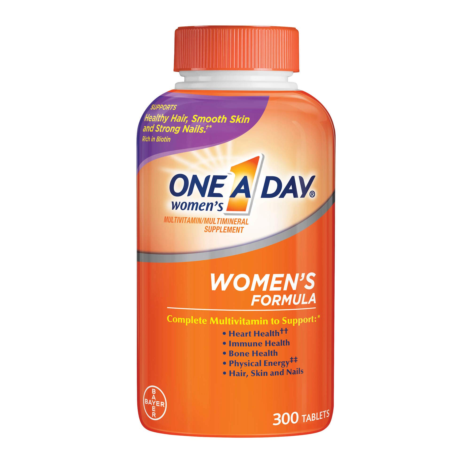One-a-Day Women's Formula Complete Multivitamin 300 Tablets Bone Health Skin Health