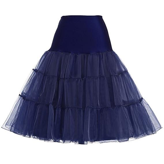 GRACE KARIN Enagua de señoras 50s Tutu Mini Falda Falda de Ballet ...