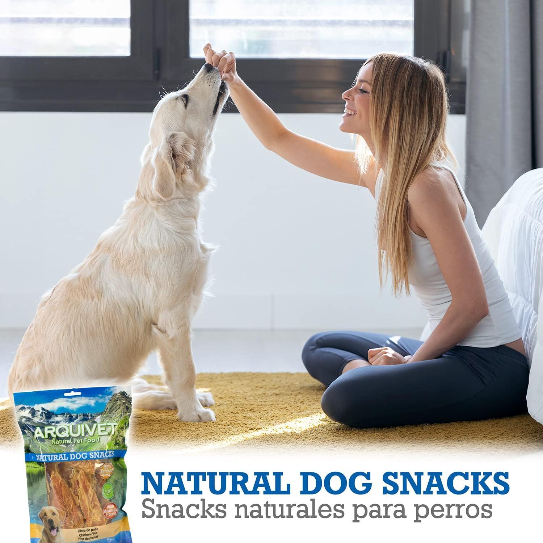 Arquivet Filete de pollo - Snacks naturales para perros - Natural Dog Snacks - Chuches para perros - Golosinas naturales para mascotas - Mejores ...