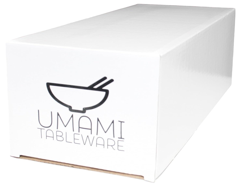 Sushi plato, plato de salsa de soja y palillos, color blanco Set de 2, por Umami vajilla: Amazon.es: Hogar
