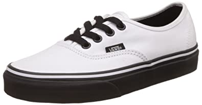 7928846944 Vans Unisex Authentic Black Sole True White Sneakers - 3 UK India (35 EU