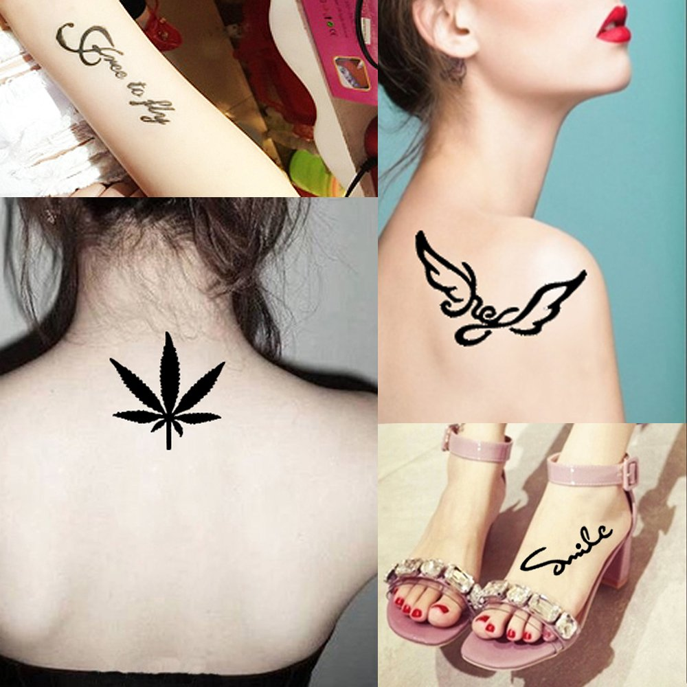 5 piezas pequeñas hueca tatuaje plantilla para cuerpo pintura arte ...