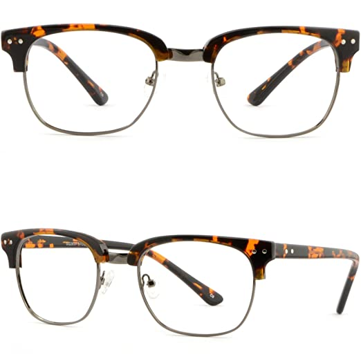 3092ec6d7c1 Image Unavailable. Image not available for. Color  Browline Plastic Men  Women Frame Prescription Glasses ...