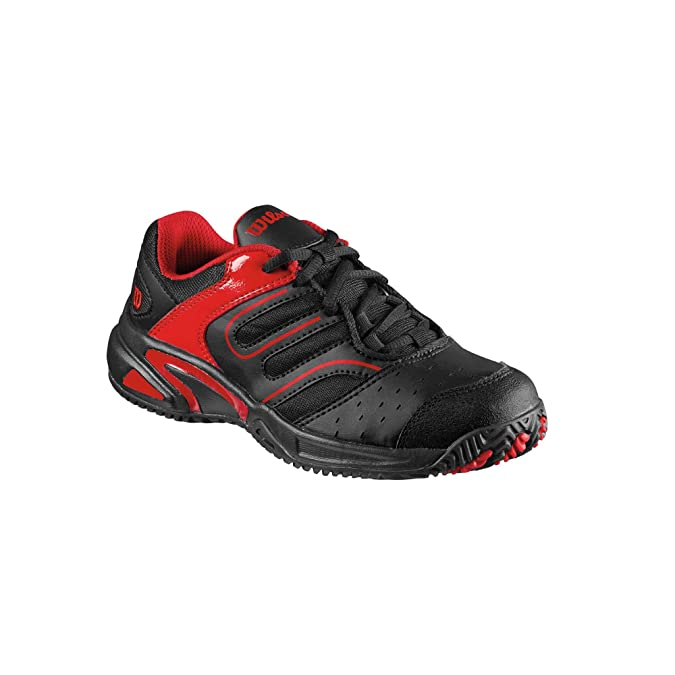 Wilson - Zapatillas pádel junior tour construkt, talla 38, color negro / rojo: Amazon.es: Zapatos y complementos