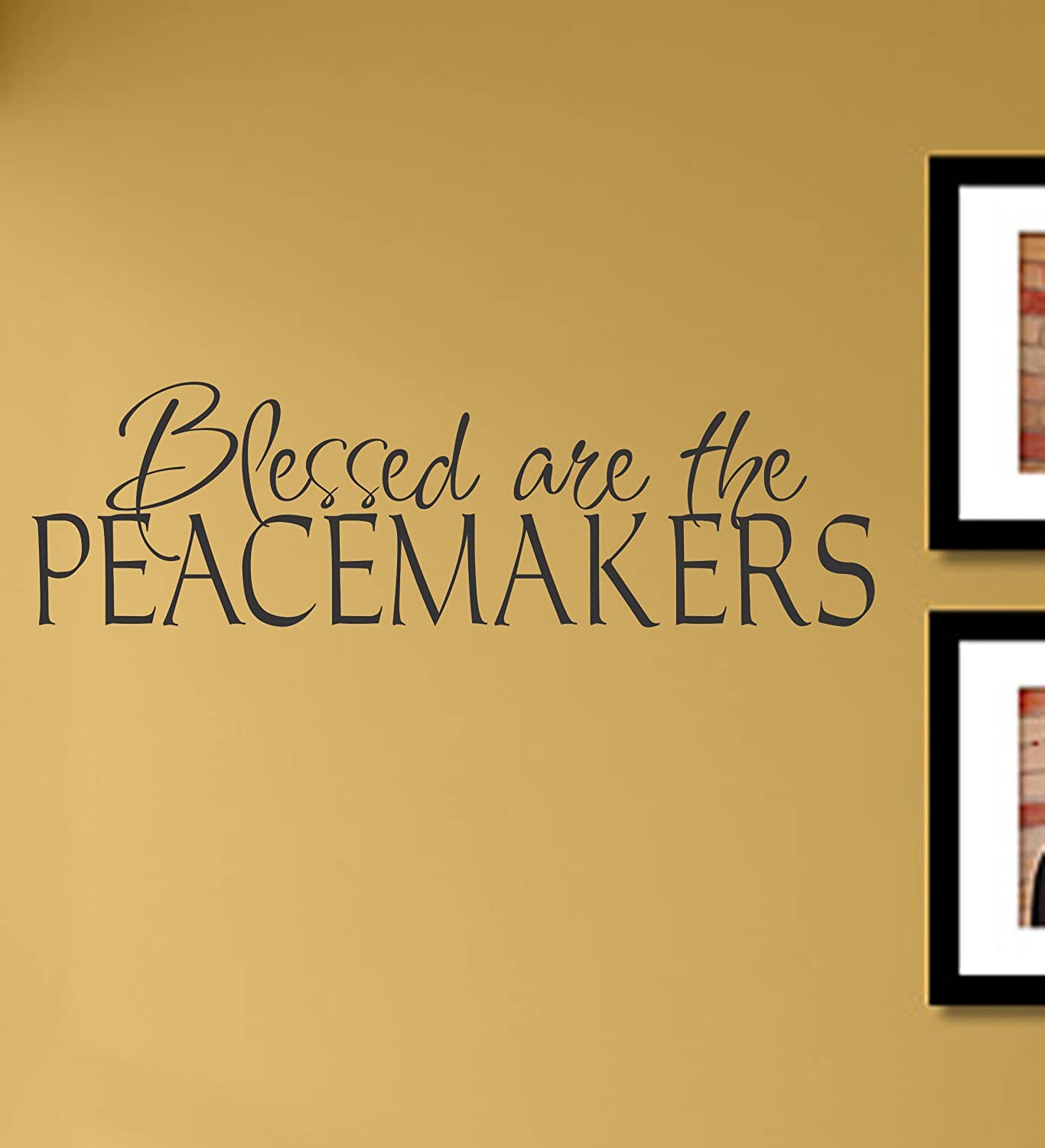 Amazon.com: Blessed are the peacemakers Vinyl Wall Decals Quotes ...