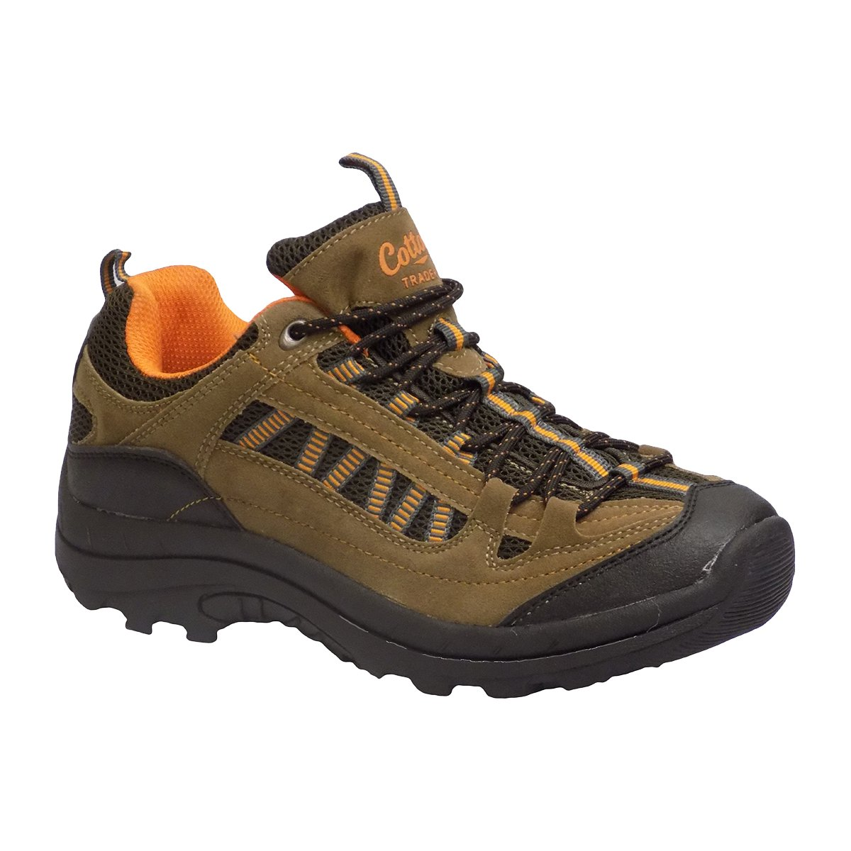d481ae99544 Amazon.com | Cotton Traders Men's Hiking Trail Brown Orange Laced ...