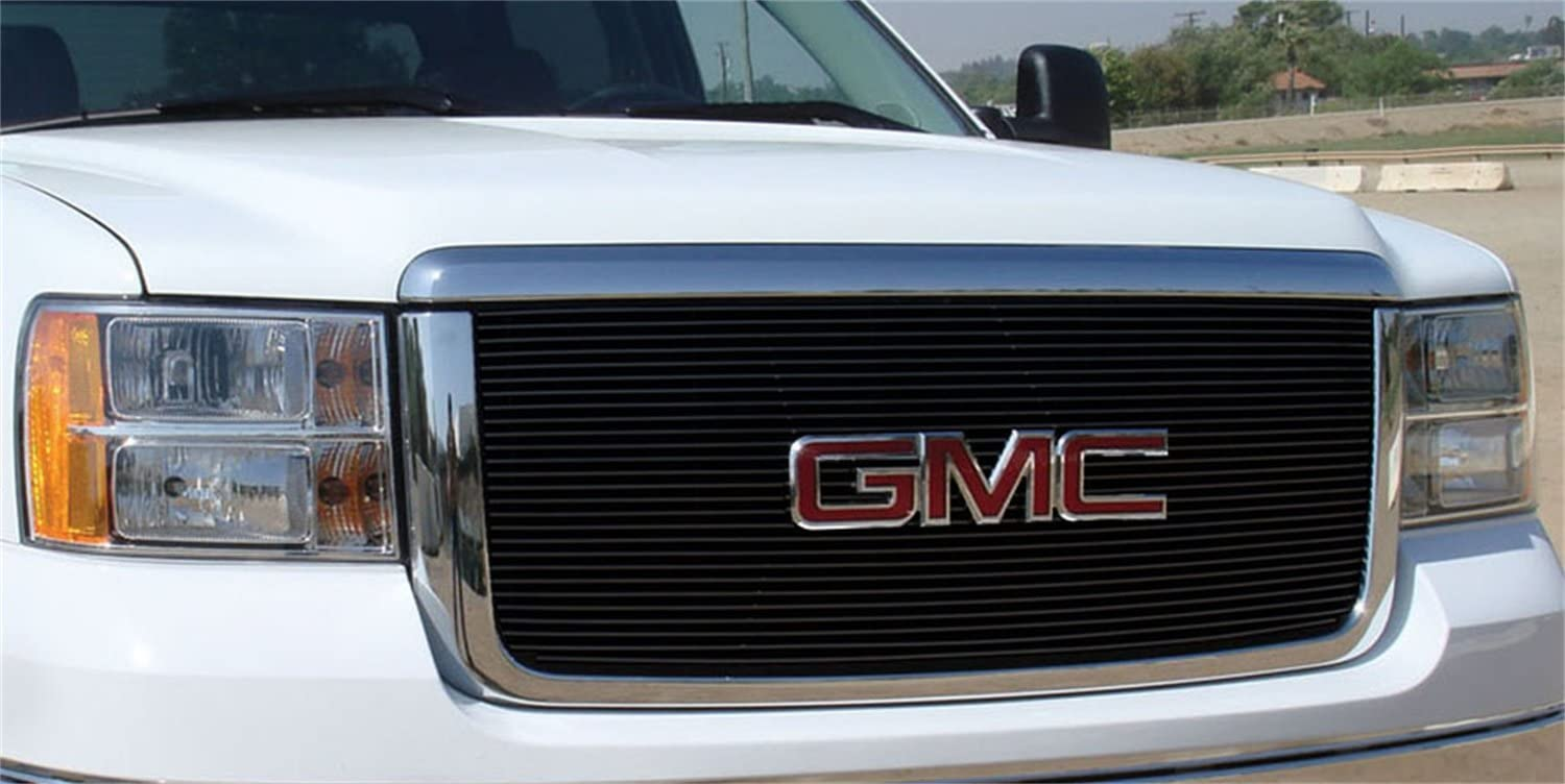 T-Rex Grilles 20205B Horizontal Aluminum Black Finish Billet Grille Insert and Overlay for GMC Sierra 1500
