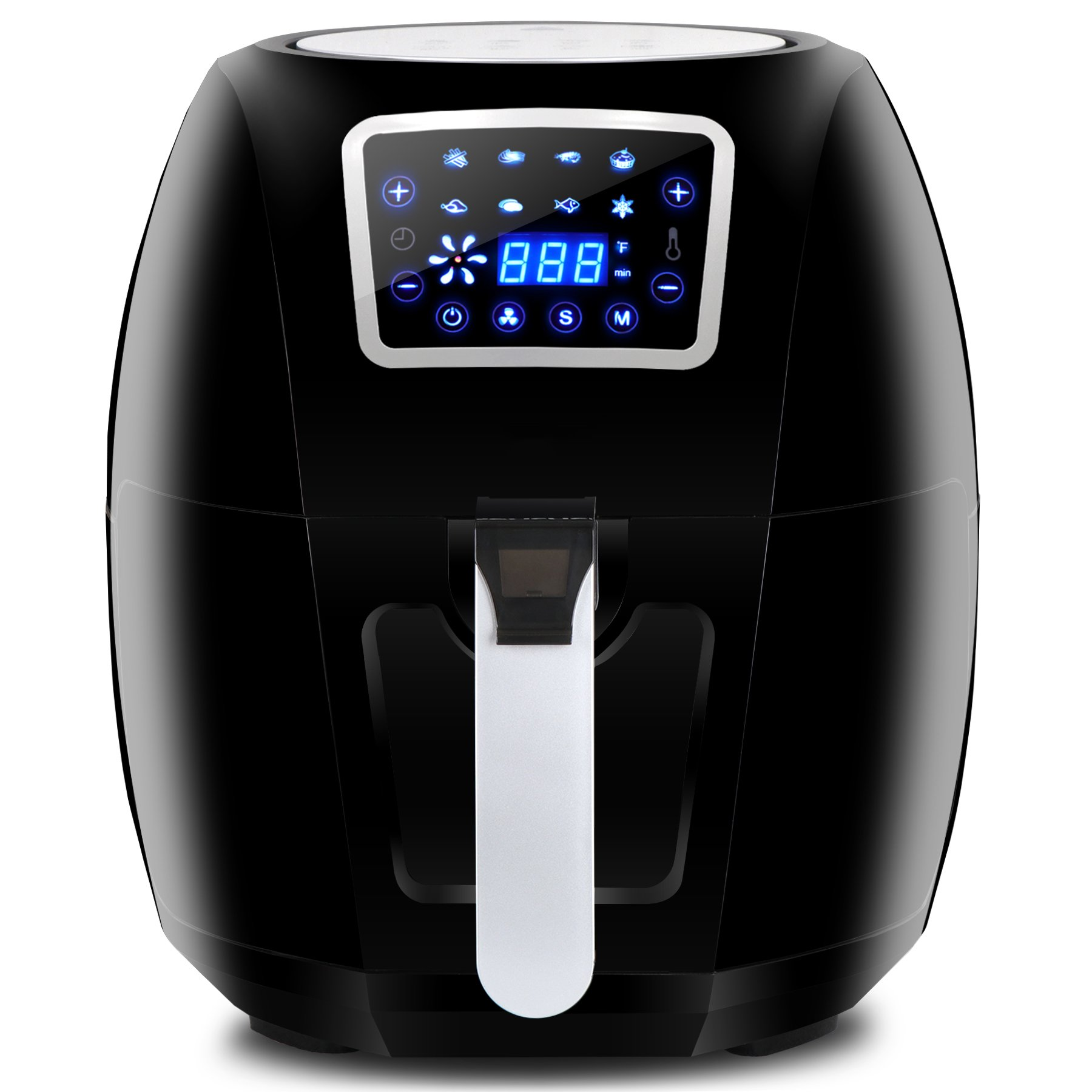 ZENY Electric Air Fryer 1800W 5.8QT Cooking Tool For Healthy Oil Free Cooking w/Time & Temperature Control Dishwasher Safe Parts (#06)