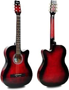 Hapilife Guitarra Acústica Acortada 6 Cuerdas Tamaño 3/4 (38 ...
